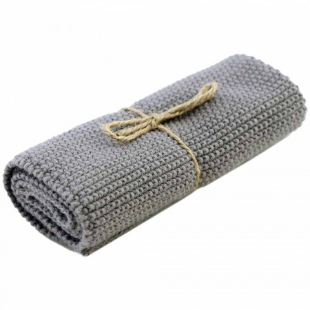 Brightwood Organic Cotton Face Washer All Purpose Cloth - Spanish Grey