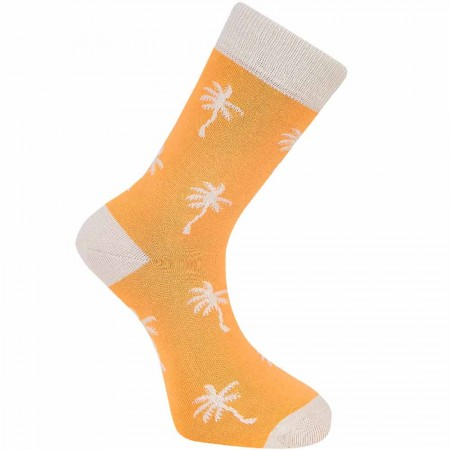 Komodo Organic Cotton Palm Tree Socks - Apricot