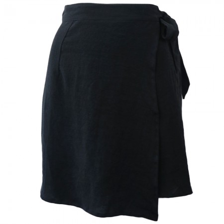 Luna + Sun Galle Linen Skirt - Black