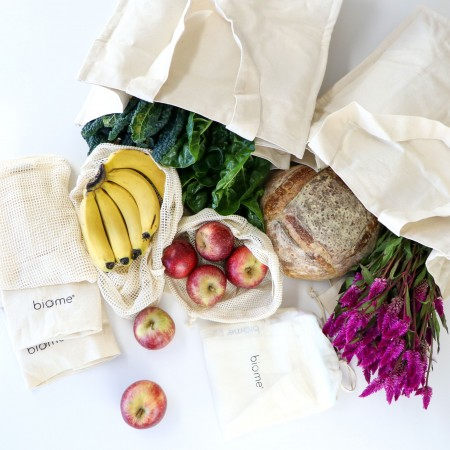 Biome Organic Cotton Shopping & Produce Bag Set with Print