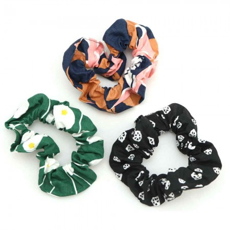 Nya Scrunchie 3 Pack - Black, Evergreen, Navy