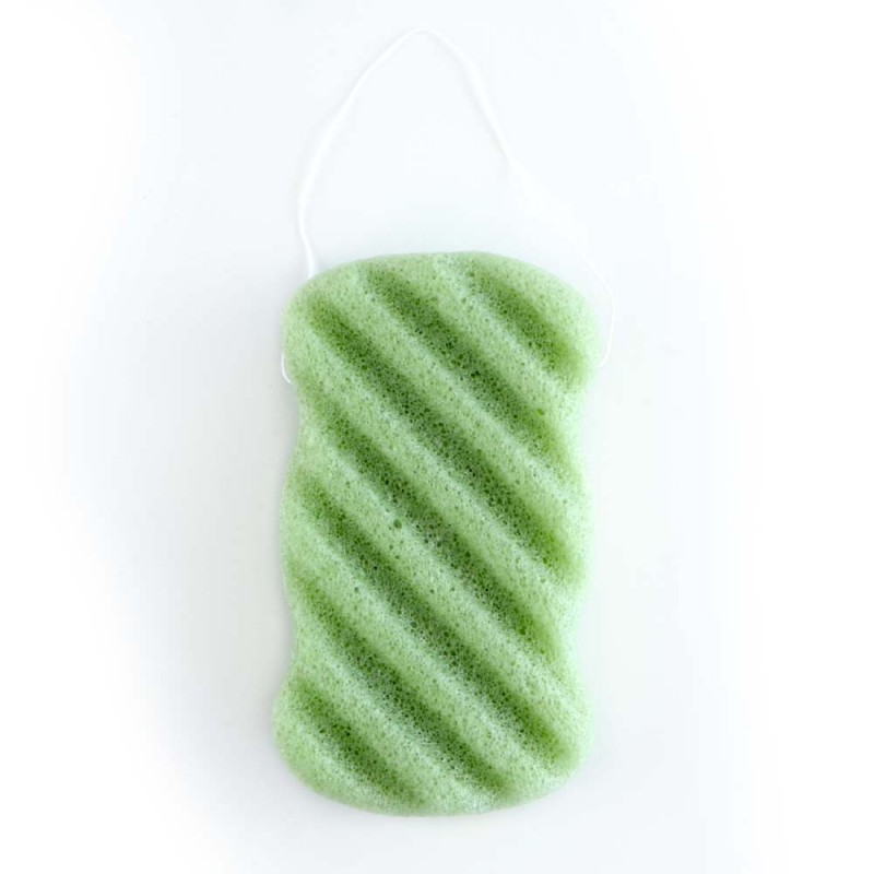 Konjac Sponge Wave Green Tea
