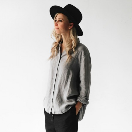 Seaside Tones Long Sleeve Shirt - Light Grey