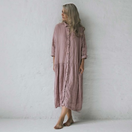 Seaside Tones Oversized Dress - Dusty Pink