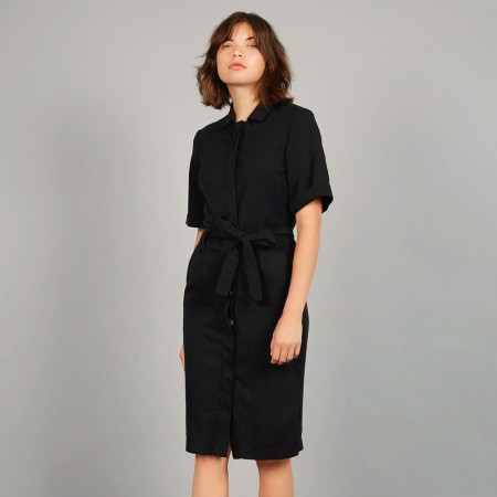 Komodo Linlin Shirt Dress - Coal