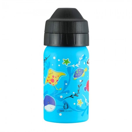 EcoCocoon Stainless Steel Water Bottle 350ml - Ocean Play