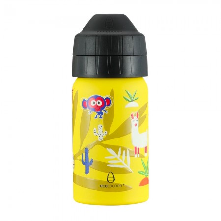 EcoCocoon Stainless Steel Water Bottle 350ml - Jungle Party