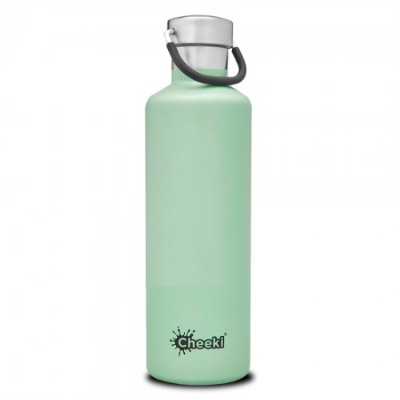 Cheeki 600ml Stainless Steel Insulated Bottle - Pistachio