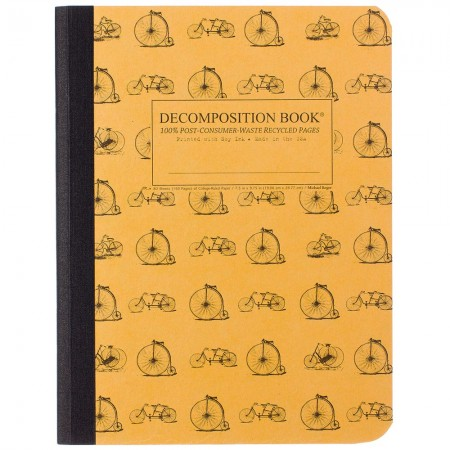 Decomposition Large Bound Notebook (Lined) - Vintage Bicycles