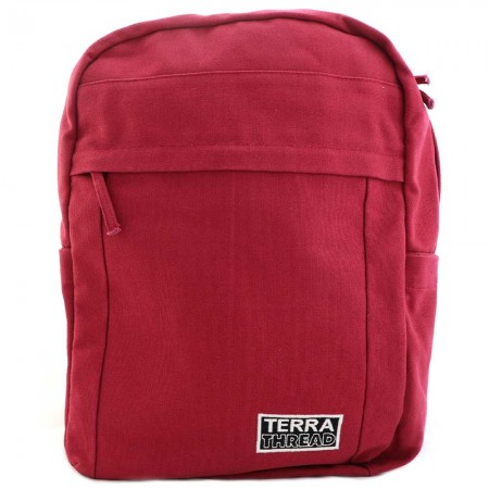 Terra Thread Organic Cotton Earth Backpack - Red