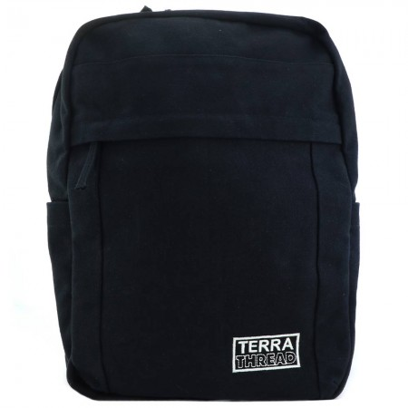 Terra Thread Organic Cotton Earth Backpack - Black