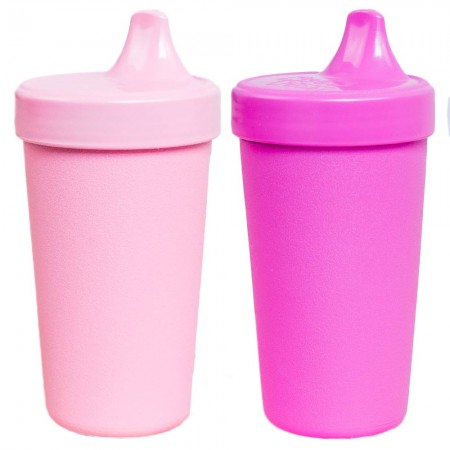 Re-Play Recycled Sippy Cups - light pink & dark pink (2pk)