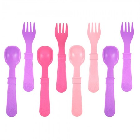 Re-Play Recycled Utensils - Pinks Purples (8pk)