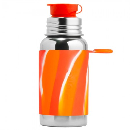 Pura Sport Stainless Steel Sports Bottle 550ml - Orange Swirl
