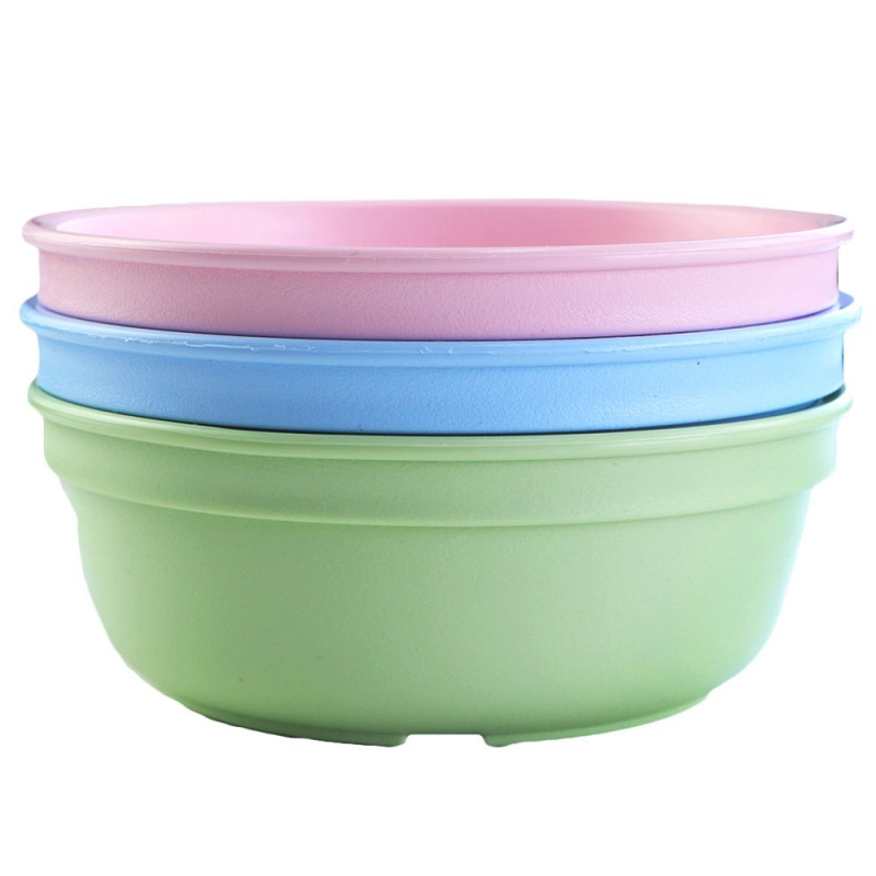 Re-Play Recycled Bowls 3pk - Ice Blue/Ice Pink/Leaf Green