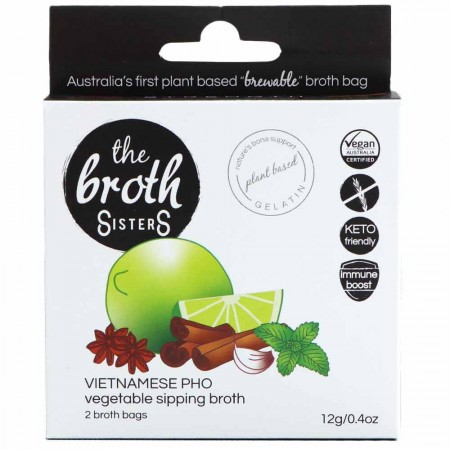The Broth Sisters Vegetable Sipping Broth Bags 2pk - Vietnamese Pho