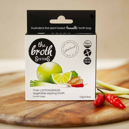 The Broth Sisters Vegetable Sipping Broth Bags 2pk - Thai Lemongrass
