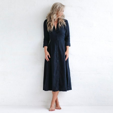 Seaside Tones Tailored Dress - Navy