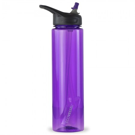 EcoVessel Wave Tritan Bottle 946ml - Purple Haze