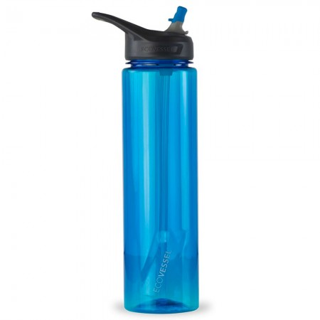 EcoVessel Wave Tritan Bottle 946ml - Hudson Blue