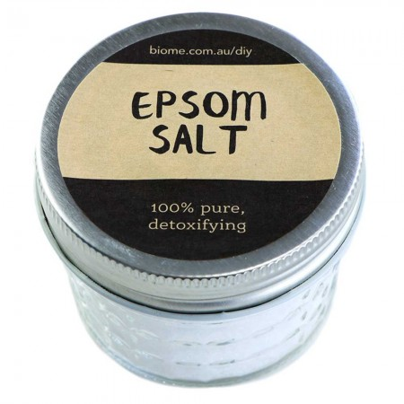 Natural Epsom Salt in Glass Jar 80g