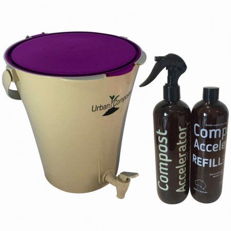 'Urban Composter Bokashi City Compost Starter Kit 7L - Berry