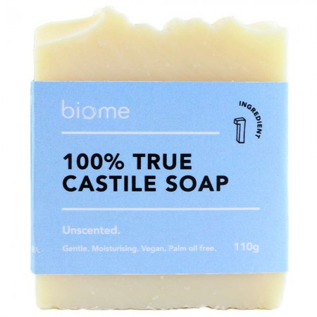 Biome True Castile Soap Bar 100% Olive Oil Unscented 110g