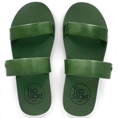 Flipslide Natural Rubber Slides - Daintree Green