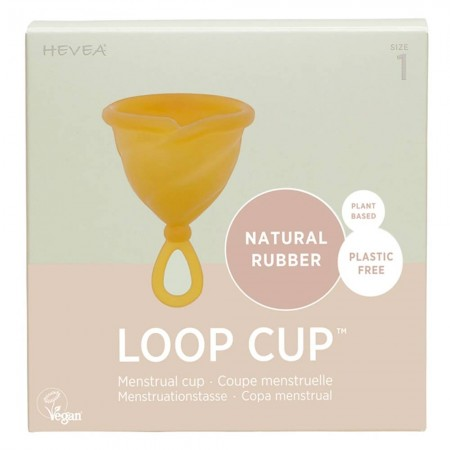 Hevea Loop Cup Natural Rubber Menstrual Cup - Size 1