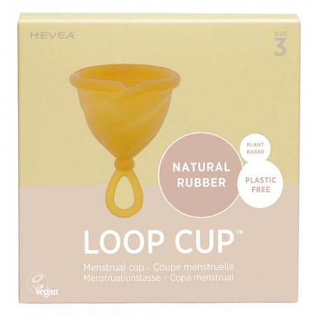Hevea Loop Cup Natural Rubber Menstrual Cup - Size 3