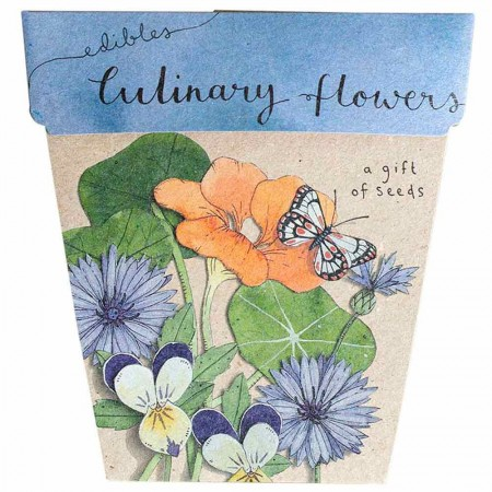 Sow 'n Sow Gift of Seeds Greeting Card - Culinary Flowers