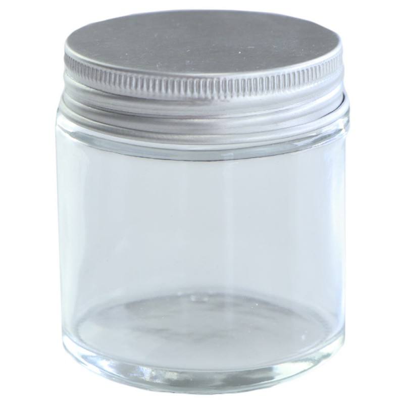 Clear Glass Jar with Silver Lid 100ml