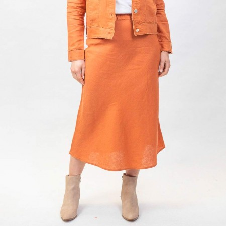 Naturals by O & J Bias Skirt - Copper