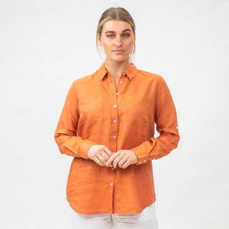 Naturals by O & J Linen Shirt - Copper