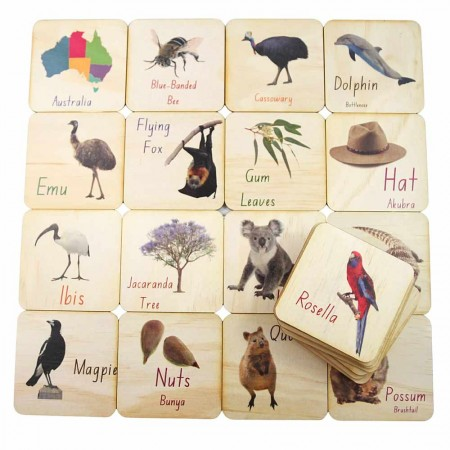 5 Little Bears Printed Tiles 26pce - Australian Alphabet
