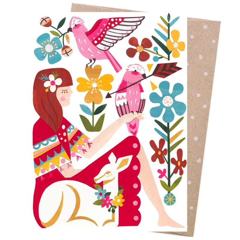 Earth Greeting Card - Woodland Dreaming