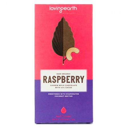 Loving Earth raspberry raw vegan chocolate 80gm