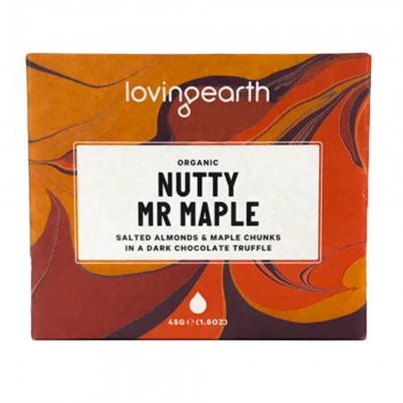 Loving Earth Nutty Mr Maple Raw Vegan Chocolate 45g