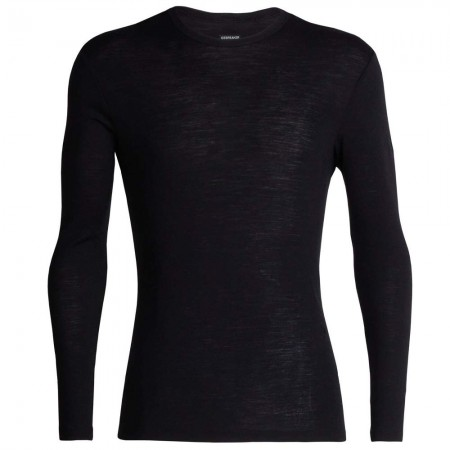 Icebreaker Men's 175 Everyday Merino Long Sleeve Crewe Thermal Tee - Black