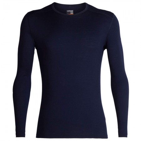 Icebreaker Men's 200 Oasis Merino Long Sleeve Crewe Thermal Tee - Midnight Navy