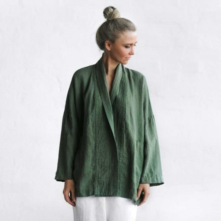 Seaside Tones Linen Jacket - Khaki