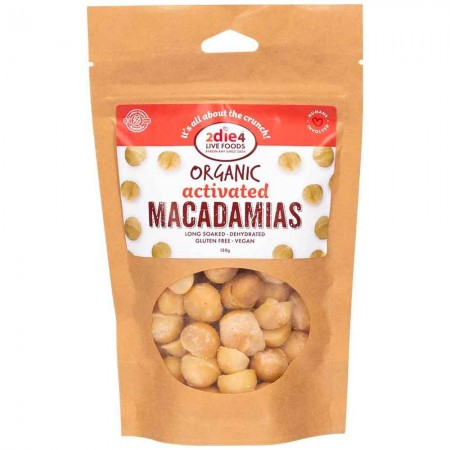 2die4 Live Foods Organic Activated Nuts 120g - Macadamias