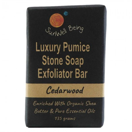 SunWell Being Luxury Pumice Stone Soap Bar 135g - Cedarwood