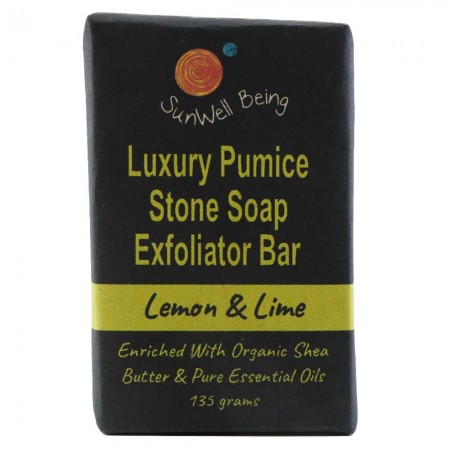 SunWell Being Luxury Pumice Stone Soap Bar 135g - Lemon & Lime