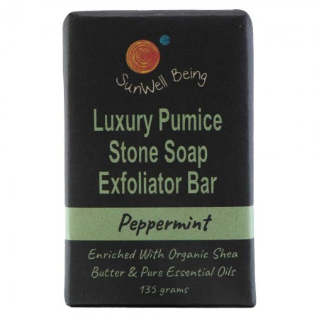 SunWell Being Luxury Pumice Stone Soap Bar 135g - Peppermint