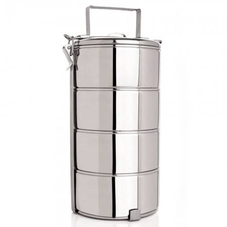 Stackable Stainless Steel Food Carrier 4 Tier Tiffin Box