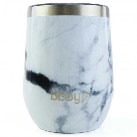 BBBYO Insulated Coffee & Wine Fix Cup 350ml - Marble