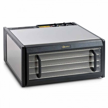 Excalibur D502CDSHD Stainless Steel 5-Tray 26hr Analogue Food Dehydrator - Clear Door