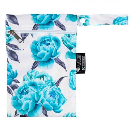 Designer Bums Mini Wet Bag - Aquamarine Peony