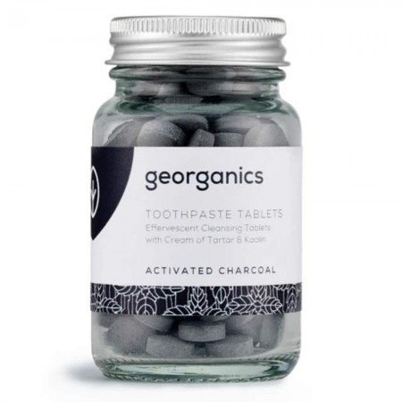 Georganics Natural Toothpaste Toothtablets (120 tabs) - Activated Charcoal